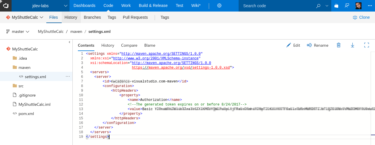 Maven Package Management with Visual Studio Team Services