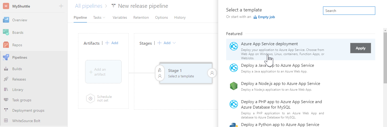 Configuring a CD pipeline for your Jenkins CI | Azure DevOps