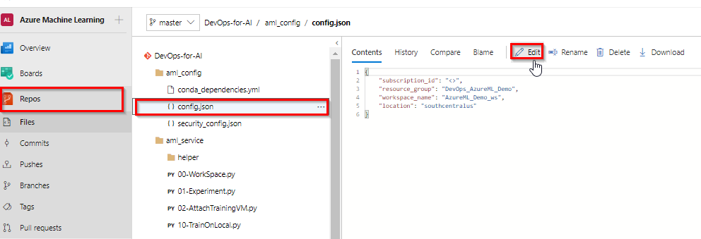 Enabling CI/CD for Machine Learning project with Azure