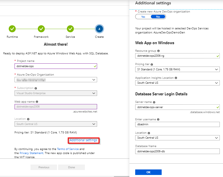 Create a CI/CD pipeline for  NET with the Azure DevOps Project