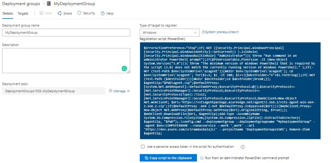 Deploying to Azure VM using Deployment Groups   Azure DevOps