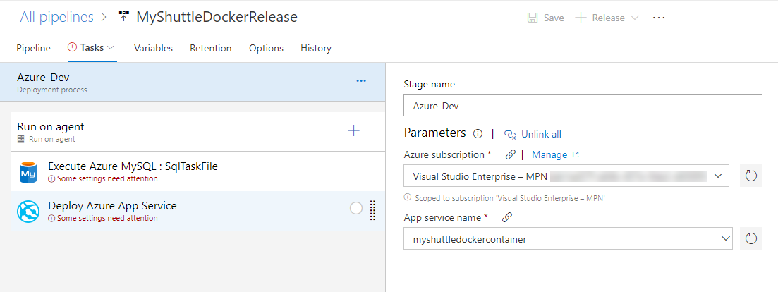 VSTS Release Defintion