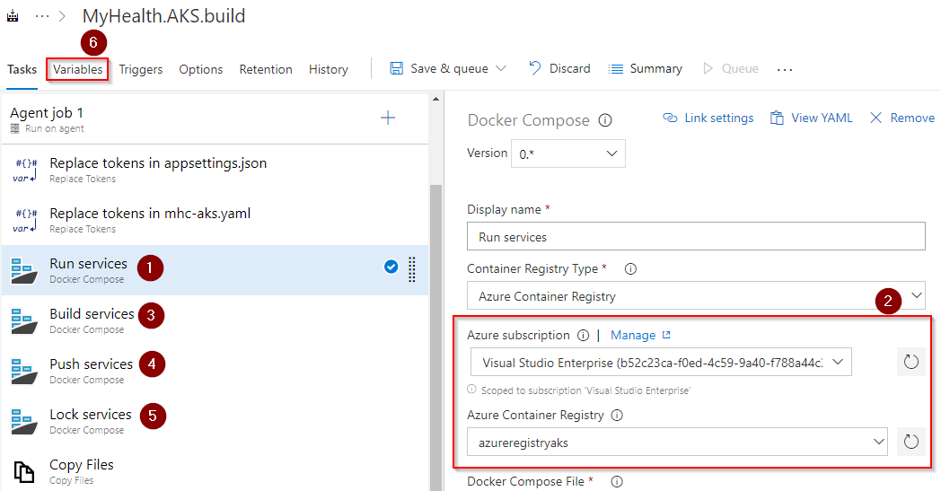 Deploying a multi-container application to Azure Kubernetes Services
