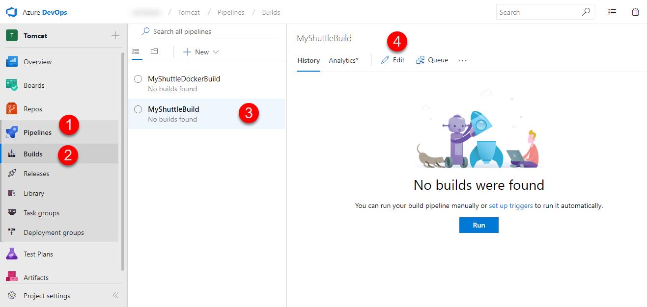 Deploying a Java-based Tomcat application to Azure | Azure DevOps
